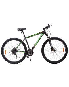 "Bicicleta mountainbike Omega Bettridge 29"", cadru 49 cm, negru/verde 2019"