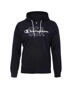 Hanorac Champion Hooded Full Zip Sweatshirt bleumarin