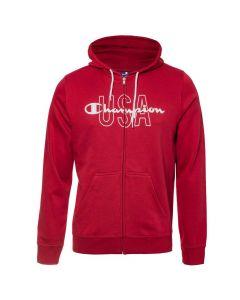 Hanorac Champion Hooded Full Zip Sweatshirt rosu