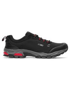Pantofi sport barbati Brille LOW Soft shell negru/rosu