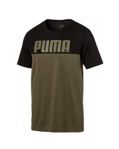Tricou barbati Puma RebelBlock Tee negru/verde