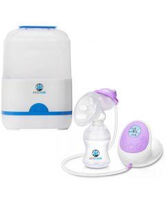 Set sterilizator electric 6 biberoane + pompa de san electrica Kidscare