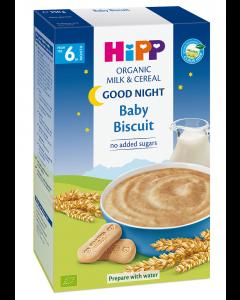 Cereale cu lapte si biscuit Bio Hipp Noapte buna 250g