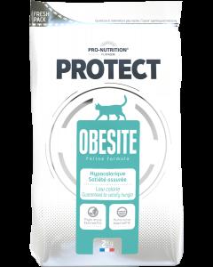 Hrana dietetica pentru pisici cu nevoi nutritionale speciale sau obeze, Protect Obesity, 2 kg.