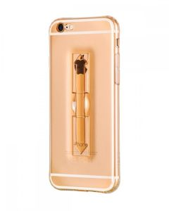 Carcasa Hoco, Finger Holder, pentru Apple Iphone 6/6S, Gold