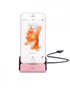 Stand incarcare, Hoco, CPH18, pentru Apple Iphone 5/5s/6/6s/6 plus/6S plus, Rose Gold