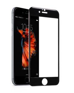 Tempered glass, Hoco, cu rama din otel inoxidabil negru, pentru iPhone 6/6s plus