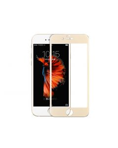 Tempered glass, Hoco, cu rama din otel inoxidabil gold, pentru iPhone 6/6s plus