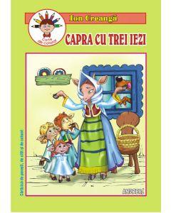 Capra cu trei iezi - Ion Creanga - Carticica de povesti, de citit si colorat