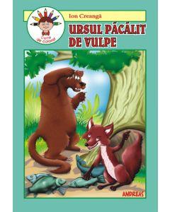 Ursul pacalit de vulpe - Carticica de povesti, de citit si colorat