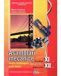 Asamblari mecanice. Manual pentru clasa a XI-a si a XII-a