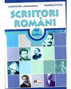Scriitori romani. Fise de portofoliu clasele I-IV