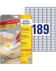 Etichete repozitionabile Avery-Zweckform L4731-25