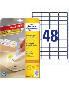 Etichete repozitionabile Avery-Zweckform L4736-25