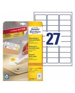 Etichete repozitionabile Avery-Zweckform L4737-25