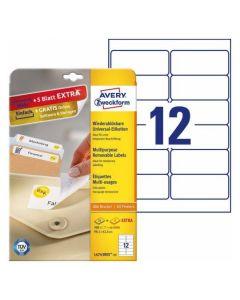 Etichete repozitionabile Avery-Zweckform L4743-25