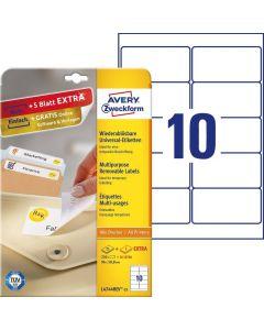 Etichete repozitionabile Avery-Zweckform L4744-25