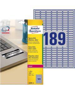 Etichete metalice de identificare Avery-Zweckform L6008-20