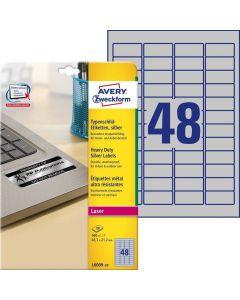 Etichete metalice de identificare Avery-Zweckform L6009-20