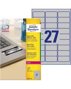 Etichete metalice de identificare Avery-Zweckform L6011-20