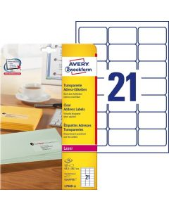 Etichete transparente Avery-Zweckform L7560-25