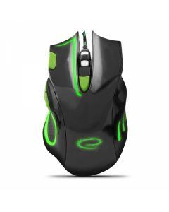 Esperanza mouse cu cablu pentru gaming 7D OPT. USB MX401 Hawk negru/verde