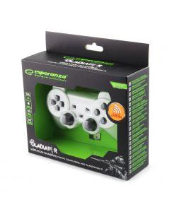 Esperanza Gamepad Gladiator 2.4Ghz PS3/PC USB alb
