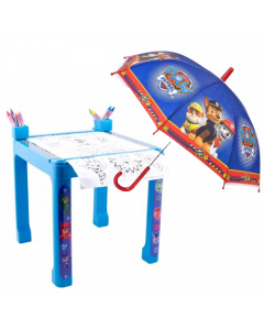 Masa cu accesorii de colorat PJ Masks + Umbrela Paw Patrol 48 cm