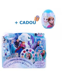 Set 1000 de piese Frozen + Cadou Ou magic cu plastilina si unelte (L) Frozen