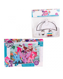 Puzzle 24 piese My Little Pony + Set 3 masti de colorat My Little Pony