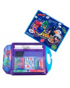 Set de colorat portabil PJ Masks + Set pictura 68 piese Pj Masks