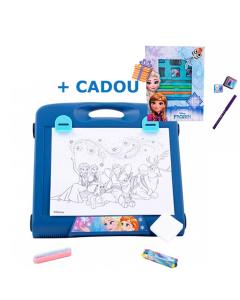 Tabla pentru desen Frozen + Cadou Set creativ cu stampile si carioci Frozen