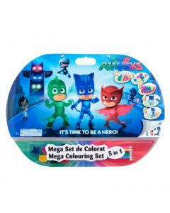 Mega set de colorat 5in1 PJ Masks - PJM1907