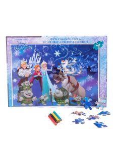 Puzzle 100 piese + Bonus Frozen - FZN-XP01
