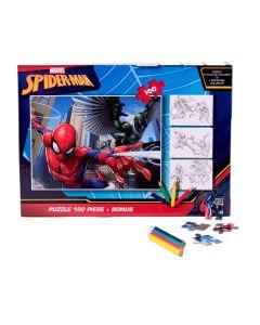 Puzzle 100 piese + Bonus Spider-Man - SPR-XP01