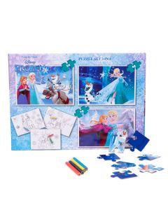 Puzzle 3in1 + Bonus Frozen - FZN-XP04