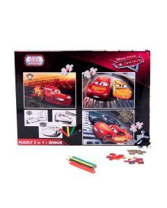Puzzle 3in1 + Bonus Cars - DCA-XP04