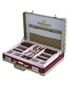 Set tacamuri 72 piese Bohmann, cu diplomat cream, model 1