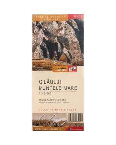 Gilaului. Muntele Mare - Harta de drumetie