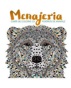 Menajeria - Carte de colorat, portrete de animale