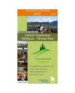 Colinele Transilvaniei. Hartibaciu - Tarnava Mare - Harta turistica