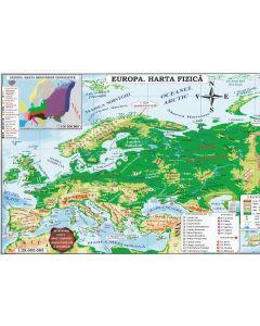 Harta Europa Politica + Fizica (pliata)