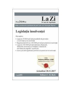 Legislatia insolventei act. 20.11.2017