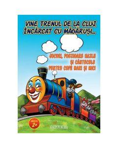 Vine trenul de la Cluj, incarcat cu magarusi - Jocuri, poezioare hazlii si cantecele pentru copii