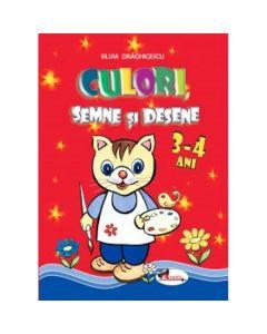Culori, semne si desene 3-4 ani - Silvia Draghicescu