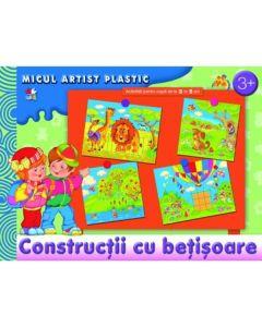 Constructii cu betisoare. Micul artist Plastic. Activitati 3-5 ani