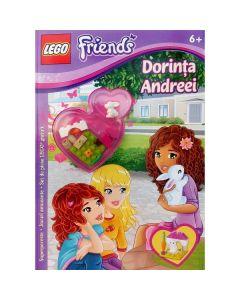 Lego. Dorinta Andreei. Superpoveste. Jocuri amuzante. Set de piese LEGO gratuit