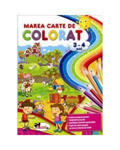 Marea carte de colorat 3-4 ani