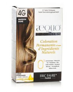 Kit Vopsea par Bio Golden Blonde 4G Aequo Color Eric Favre Paris, 21 de teste clinice si dermatologice. 0% : Amoniac, Rezorcinol, SLS, Parabeni, PPD, Uleiuri minerale, Parafine, Silicon, Formaldehyde, Metale grele