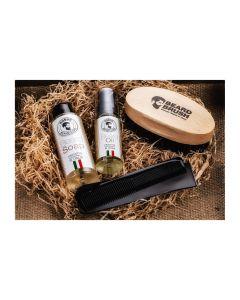 Ingrijire Barba Rustic 100% Natural Ulei Sapun Perie Pieptan Profesional Italy